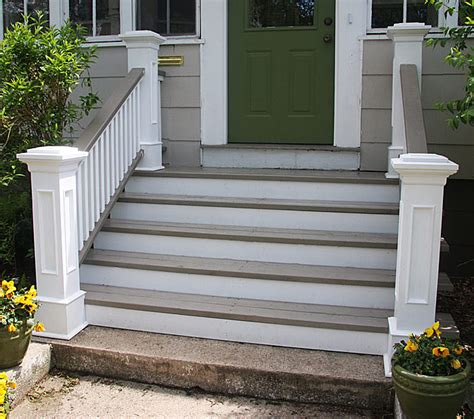 Wider Steps Simple Columns Railing Nice Colors Maybe Front Door Railings