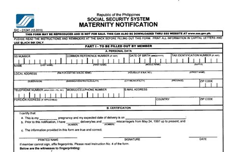 Mat Application Form by List Of Sss Application Requirements To Avail Maternity