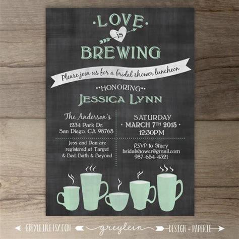 diy chalkboard bridal shower invitations is brewing bridal shower wedding engagement