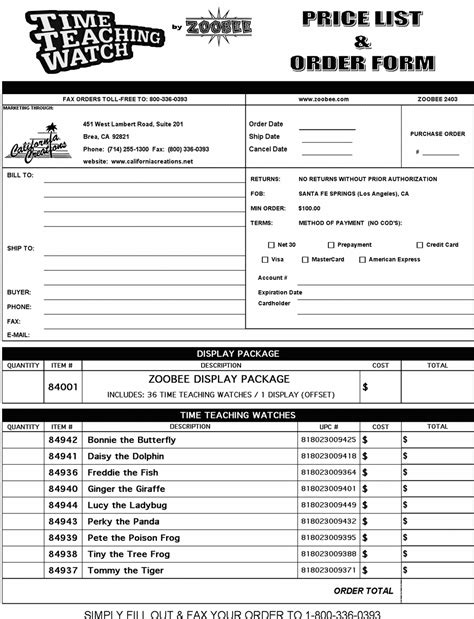 wholesale order form template order wholesale clothing clothes zone
