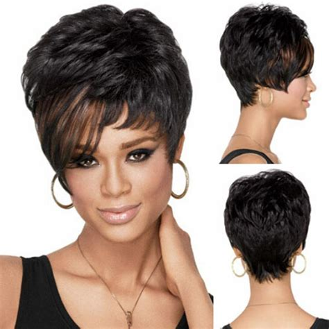 halle berry short pixie wig ladies sexy short synthetic pixie boy cut halle berry