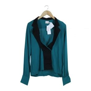 Preloved Blouse Wanita Abu2 Size S koleksi fashion pakaian dan baju wanita branded preloved