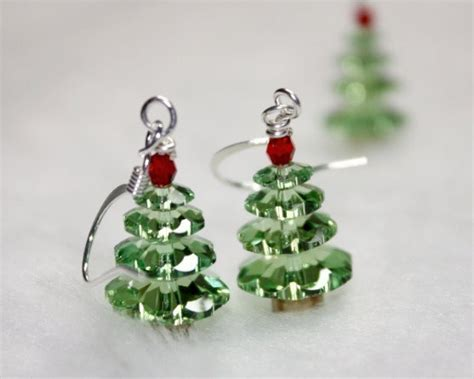 not the christmas idiot swarovski holiday tree earrings by