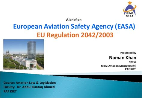 Mba Airline And Airport Management Course Details by European Aviation Safety Agency Easa Eu Regulation