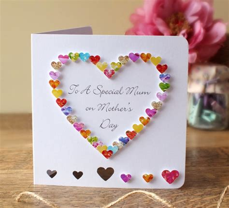 Handmade Mothers Day Cards Ideas - handmade 3d s day card personalised personalized