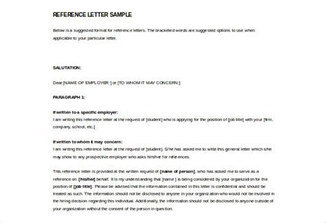 template for a letter of reference reference letter template 42 free sle exle