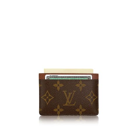 card holder card holder monogram canvas small leather goods louis