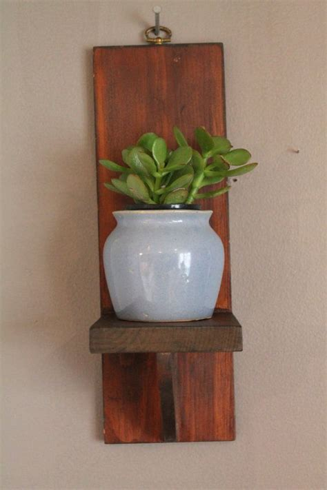 Wall Plant Shelf by Hanging Wall Shelf Plant Jar Clock