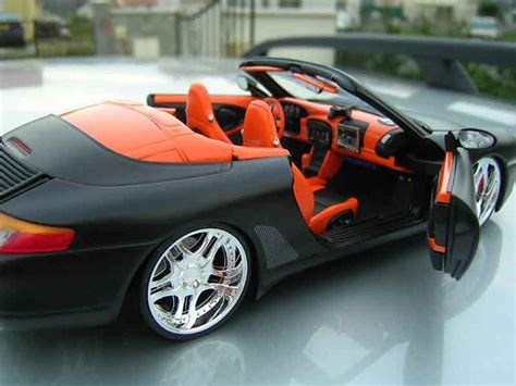 Porsche 996 Models by Porsche 996 Cabriolet Black Ut Models Diecast Model Car 1
