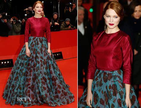 lea seydoux red carpet fashion awards lea seydoux in prada la belle et la bete berlin film