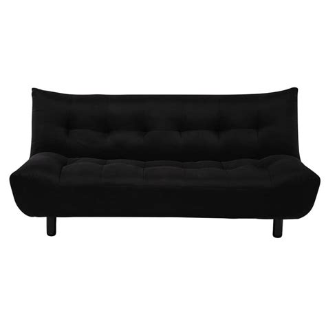 Clic Clac Sofa Bed by 3 Seater Clic Clac Sofa Bed In Black Cloud Maisons Du Monde