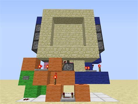 How To Make A 3x3 Piston Door by Minecraft 3x3 Piston Door Schematic Images