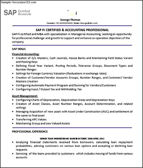 sap sd consultant sample resume free printable ticket
