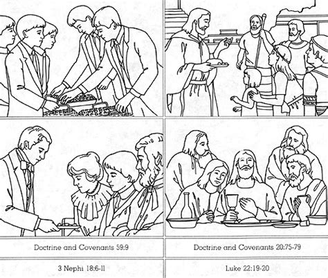 coloring pages lds sacrament free sacrament lds coloring pages