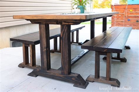 outdoor dining table plans houseful  handmade