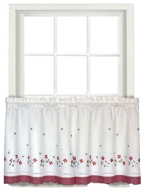 floral kitchen curtains gingham red floral kitchen curtain traditional