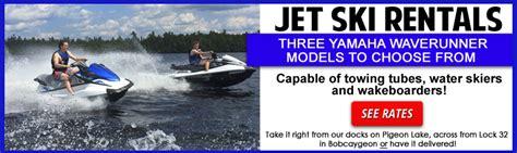 fishing boat rentals peterborough jet ski rentals and boat rentals in the kawarthas and