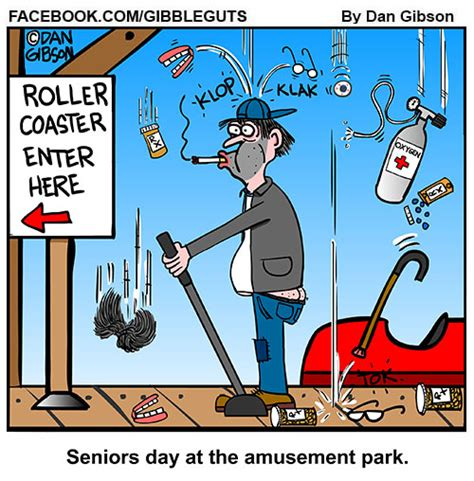 theme park jokes seniors day at the amusement park old people on the