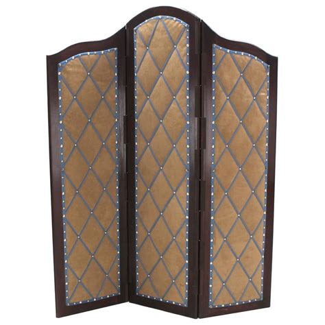 Upholstered Room Divider Decorative Carved And Upholstered Screen Room Divider For Sale At 1stdibs