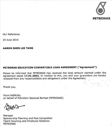 Release Letter From Bank Malaysia How I Paid My 58k Education Loan Mr Stingy
