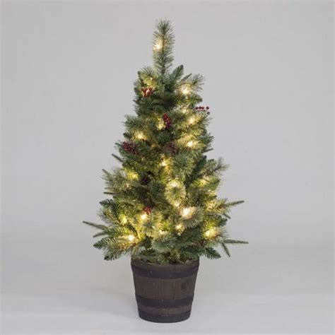 4ft tree with lights buy 4ft elk mountain pre lit tree with 50 white
