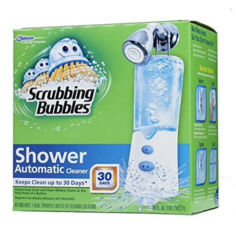 automatic bathtub cleaner scrubbing bubbles automatic shower cleaner starter kit 34 fl oz home garden