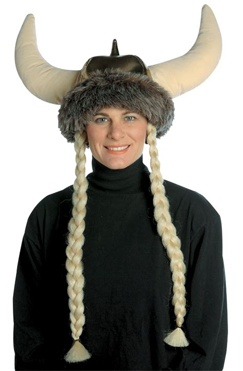 Hide Hair Horrors With A Myperennial Hat by Space Viking Hat W Braids Humorous Costumes 2018