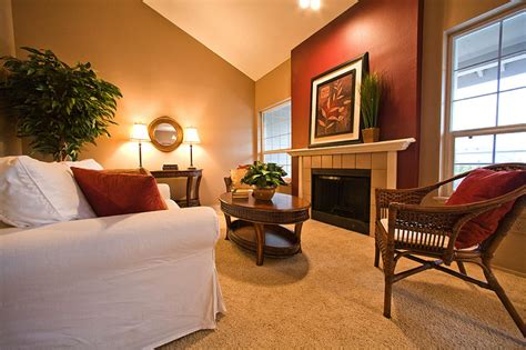 accent wall color warm living room nuanced using beige wall accents paint