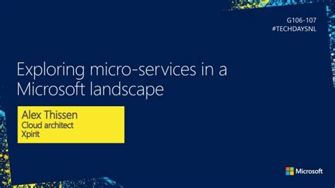 Exploring Microservices In A Microsoft Landscape | exploring microservices in a microsoft landscape