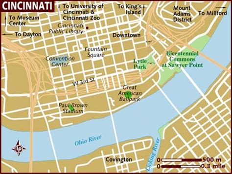usa map cincinnati map of cincinnati