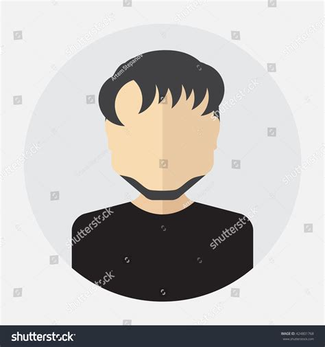 avatar template vector avatar logo template pictogram button