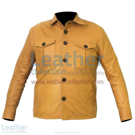 Buttoned Jacket get buttoned front skin jacket shirt style jacket
