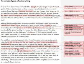 Writing A Reflection Essay by Writing Reflectively Supporting Reflection