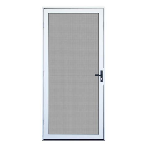 Screen Doors Home Depot Exterior Door Unique Home Designs 36 In X 80 In White Surface Mount Outswing Security Door With Meshtec