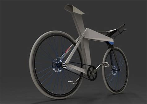 Origami Bike - lightweight folded metal bike inspired by origami
