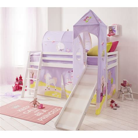 bed with slide cabin bed midsleeper with slide and tower