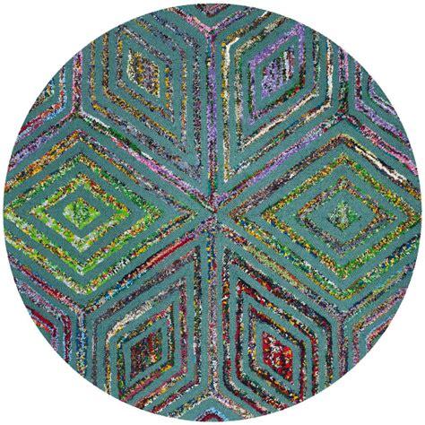 4 ft rug safavieh nantucket blue 4 ft x 4 ft area rug nan607a 4r the home depot