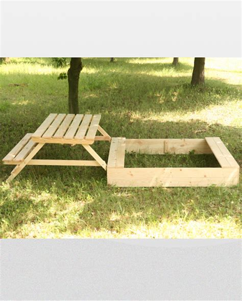 sandbox with bench lid sandpit p 15 47x250x120 wooden sandbox with table bench