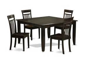 5 Chair Dining Table 5 Dining Room Set Dinette Table With Leaf And 4