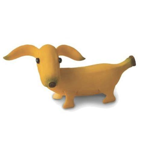 dogs and bananas dachshund figurine and bananas on