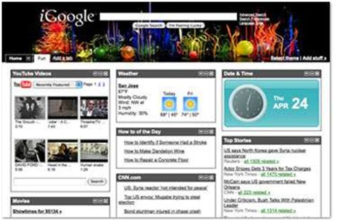 themes for google homepage designer homepages igoogle artist themes include dolce