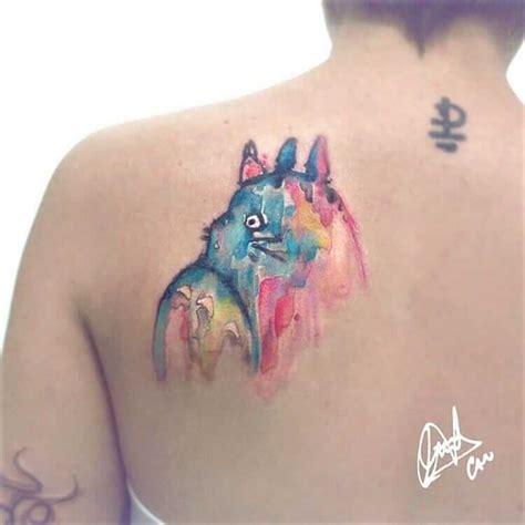 watercolor tattoo studio deutschland 36 studio ghibli inspired anime tattoos page 35 of 36