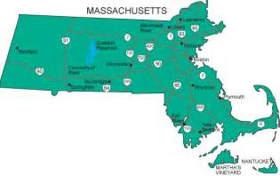 the state of map ma map massachusetts state map