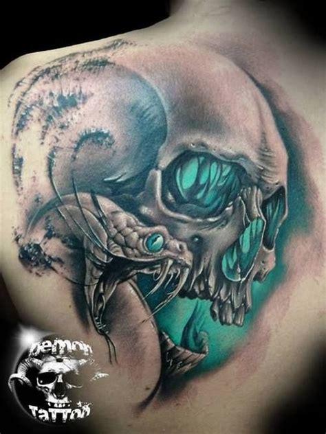 Tattoo Pictures Skulls Demons | demon tattoos demon skull tattoo on back shoulder
