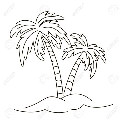 palm tree drawing outline how to draw a palm tree