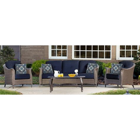 Set Navy gramercy 4 seating set in navy blue gramercy4pc nvy