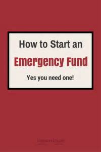 how to start your emergency fund