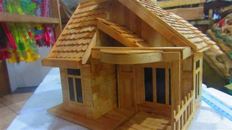 cara membuat kolase rumah miniatur rumah adat