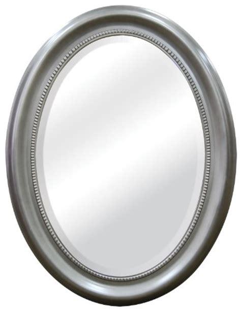 brushed nickel oval bathroom mirror lowest price mcs oval mirror frame with brushed nickel