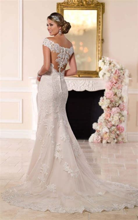 Wedding Dress Lace Back by Illusion Lace Back Wedding Dress I Stella York Wedding Dresses